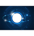 light blue futuristic circle technology vector image vector image