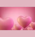 love heart background valentine background vector image