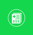 medical bill icon in circle vector image