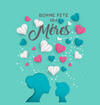 mother day french card for family holiday love vector image vector image