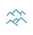 mountains peak symbol icon or logo vector image