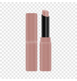 open tube of pink lipstick mockup realistic style vector image vector image