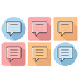 outlined icon of speech bubble with parallel and vector image vector image