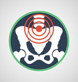 Pelvic Pain Logo vector image vector image