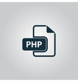 PHP computer file extension symbol vector image