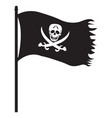 pirate black flag icon vector image vector image