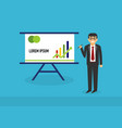 presentation business people presentation concep vector image