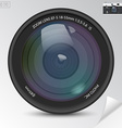 Realistic camera photo lens with shadows vector image vector image