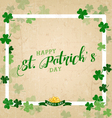 Saint Patricks Day Typographical Vintage vector image vector image