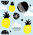 seamless background in scandinavian style with vector image vector image