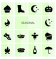seasonal icons vector image vector image