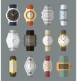 Set of watches vector image vector image