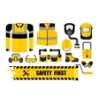 set safety first vector image