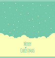 snow landscape background vector image vector image