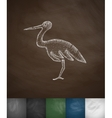 stork icon Hand drawn vector image