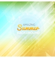 summer abstract background template poster vector image