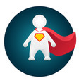 superhero cartoon personage in red mantle vector image