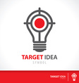 Target idea vector image vector image