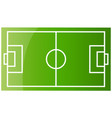 top view soccer field or football field flat vector image vector image