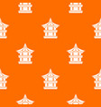 traditional korean pagoda pattern seamless vector image
