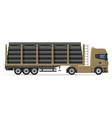 truck semi trailer concept 08 vector image vector image