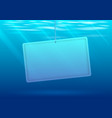 underwater background with banner vector image vector image