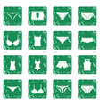 underwear items icons set grunge vector image vector image