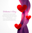 valentine day background with heart vector image vector image