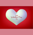 valentine s day concept 3d vector image vector image