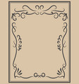 vintage frame on light background design element vector image vector image