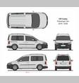 vw caddy passenger van 2015-present vector image vector image