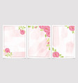watercolor pink english rose with frame for vector image