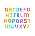 Wired wavy cable colorful contour alphabet vector image