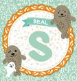 ABC animals S is seal Childrens english alphabet vector image