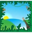 Jungle border vector image