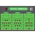 Soccer team formation vector image
