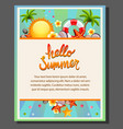 happy summer poster vector image
