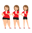 stages weight loss before and after vector image