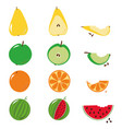 bitten fruits sequence over white vector image