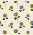 sunflower plant cartoon seamless pattern vector image