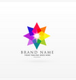 abstract colorful logo design concept vector image vector image