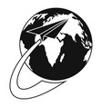 around the world icon simple style vector image vector image
