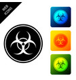 biohazard symbol icon isolated set icons colorful vector image vector image