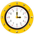 black and yellow stripes bee clock vector image vector image