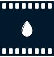 black drop vector image
