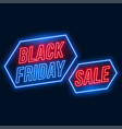 black friday sale background in neon style vector image vector image