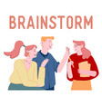brainstorm and searching solution concept office vector image
