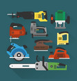 builders tools modern flat background vector image vector image