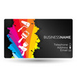 business card for painting the layout vector image vector image