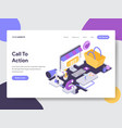 call to action isometric vector image vector image